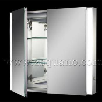 Modern Luminous Bathroom Mirror Cabinet With Shaver Socket