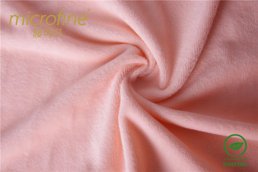 Warm velvet fabric pink short velvet fabric plain fabric