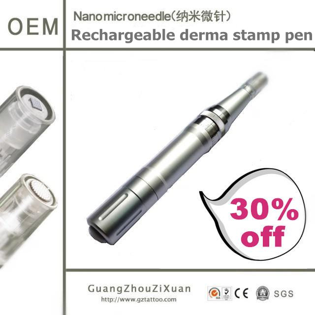 Cheap Price! Rechargeable Medical Skin Needling microneedle stamp Home use derma pin pen(ZX12-60)