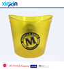 4L ps oval shape plastic ice bucket/wine cooler for party champange cooler