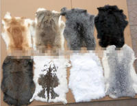 Cheap White Rabbit /Rex Skin 100% Genuine Rabbit Fur throw Wholesale
