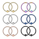 Anodized rainbow 316l surgical steel Nose Ring Hoop circular barbell piercings