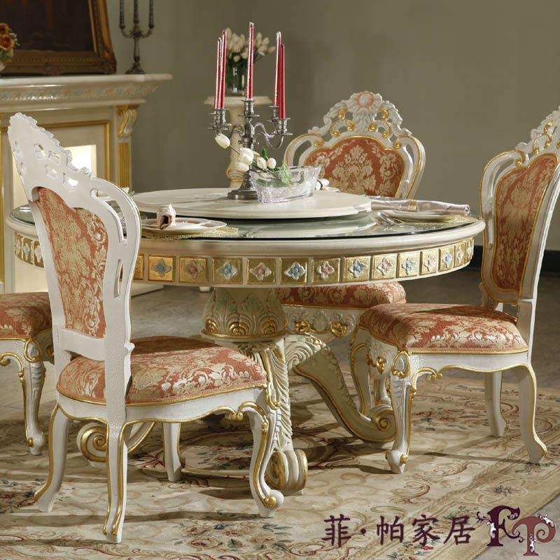Muebles de lujo del dise o de italia madera hoja dorado for Los mejores comedores modernos