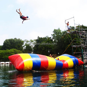 high quality inflatable water jumping bag/ inflatable water air blast blob/ large air cushions for water game