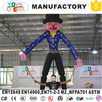 moving advertising inflatables clown cartoon characters for advertising