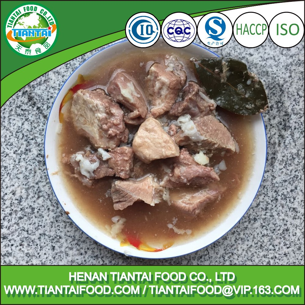 canned steamed pork pork meat and bone meal