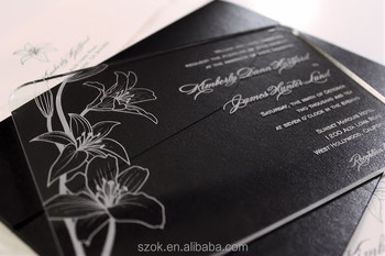 Ingenious Clear Plastic Wedding Invitation Cards For Favors