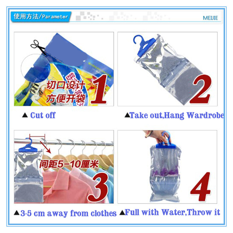 Closet/Wardrobe Moisture Absorber Hanging Bag Natural Safe