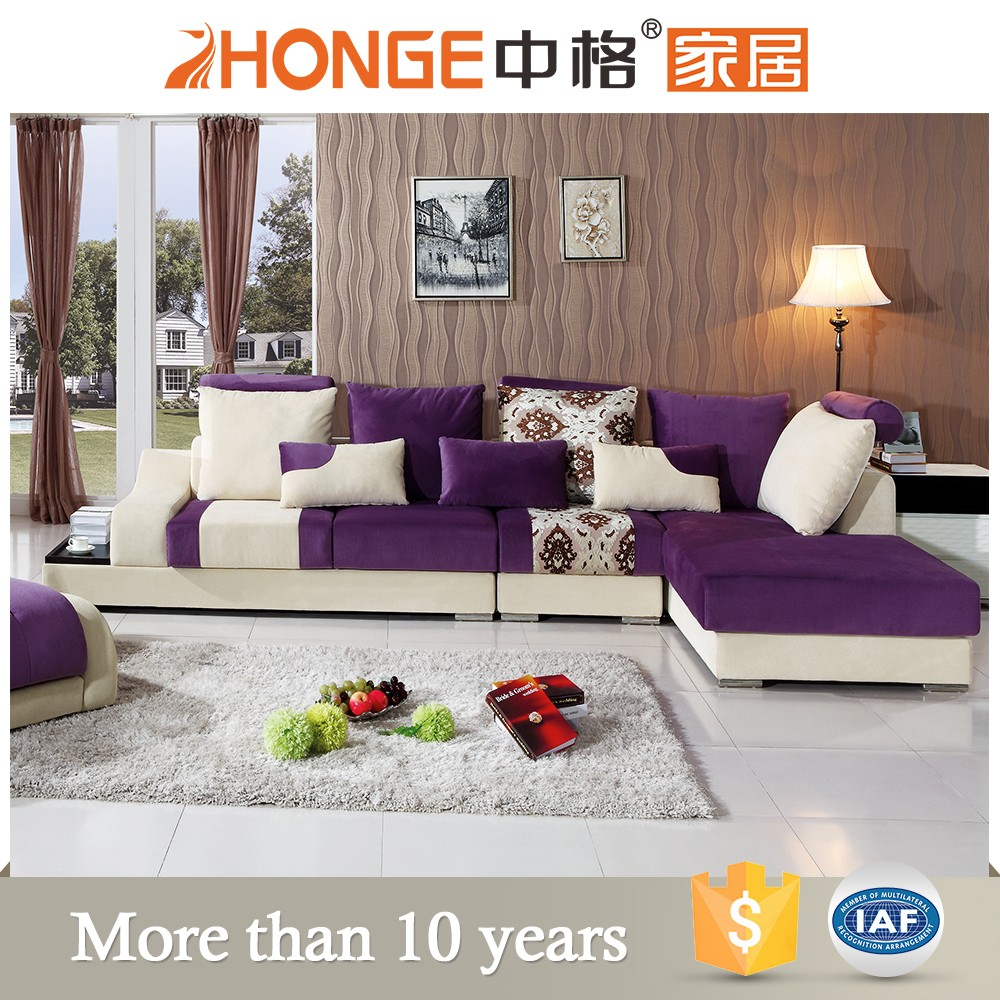 2016 new style design for home use corner shape fabric sofa soft furniture cheap sale