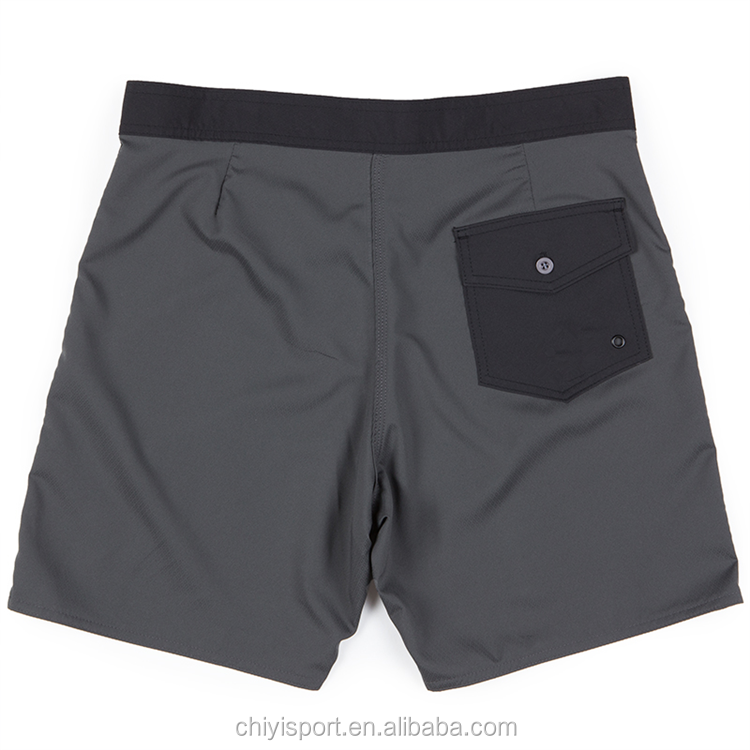 Neueste mode 4 4-wege-stretch individuell mens boardshorts recycelt badehose
