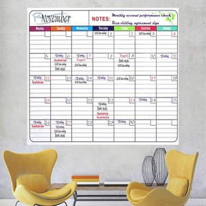 custom print Office Laminated Jumbo 36 Inch by 48 Inch Dry Erase Wall Calendar,Monthly Planner for Home Office Classroom