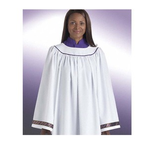 Women white choir baptismal gown