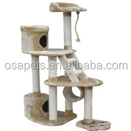 Wholesale pet furniture Cat tree scratcher condo Cat tree scratching post