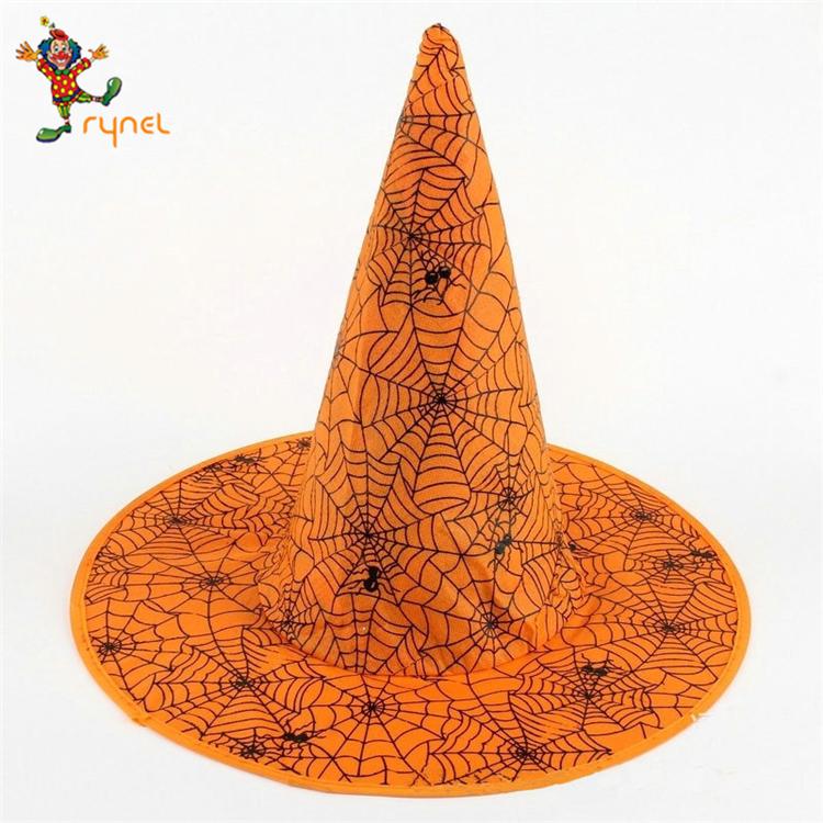 Erwachsene Hexe Orange Hut Halloween Kopf-tragen Cosplay Party Requisiten