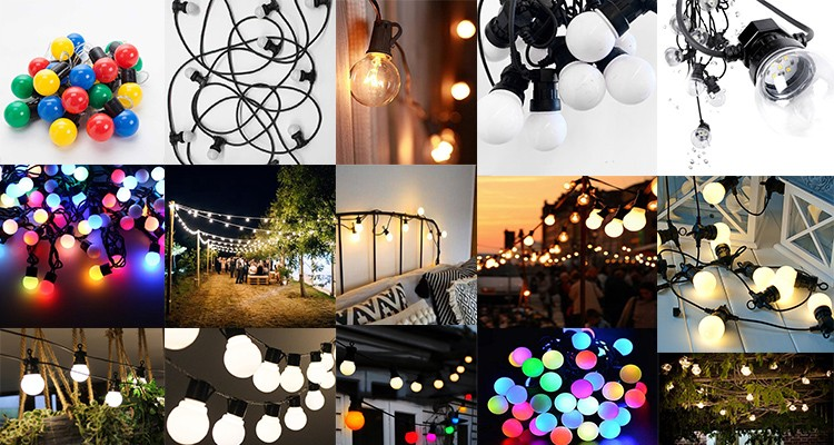 2019 hot sale house garden backyard decoration retro cafe restaurant  decoration Christmas light string