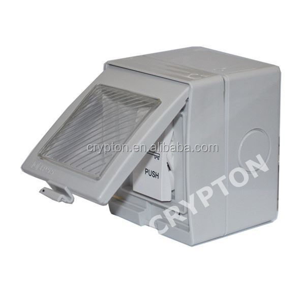 Access control exit button with LED light for night use metal exit push button