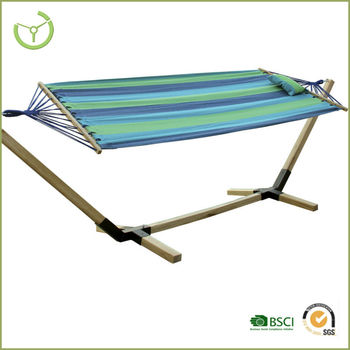 2015 New Product With Wood Stand,garden Hammock With Wooden Stand, Camping  Hammock Hot