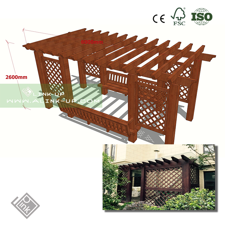 Modern house interior and exterior decoration garden modern pergola