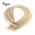 613 Blonde Hair Dye Nano Ring Virgin Remy Hair Extension 613 Virgin Indian Hair Vendor