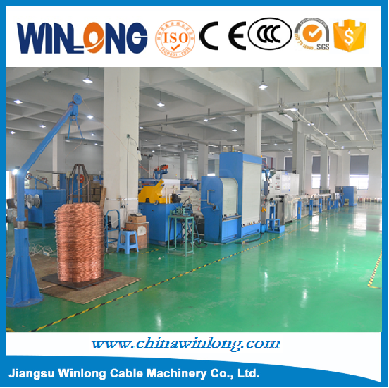 YL- PVC insulation copper wire extruder machine / Lan Cable Drawing and insulating Tandem Production Line