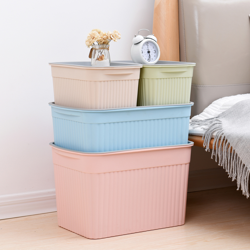 Multi-purpose Stackable Plastic Decorative Storage Bin, Decorative Storage Bin/