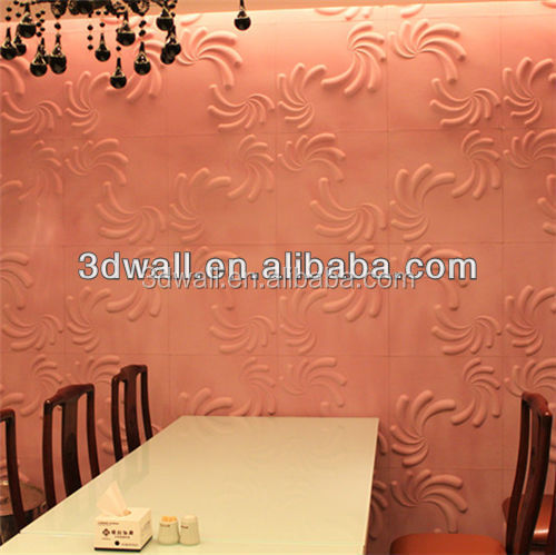 Free samples Leather Snow White 3D Embossed Effect Wooden Wall Panel For Decor