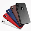 Ultra Thin Lichee Soft TPU Gel Back Mobile Phone Case Cover For Apple Iphone X case