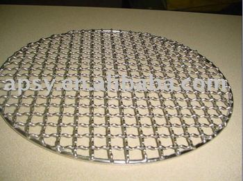 Galvanized or stainless steel barbecue grill mesh