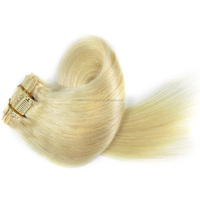 Buy Direct From The Manufacturer High Quality Durable Smooth Blond Remy Human Clip In Hair Extensions