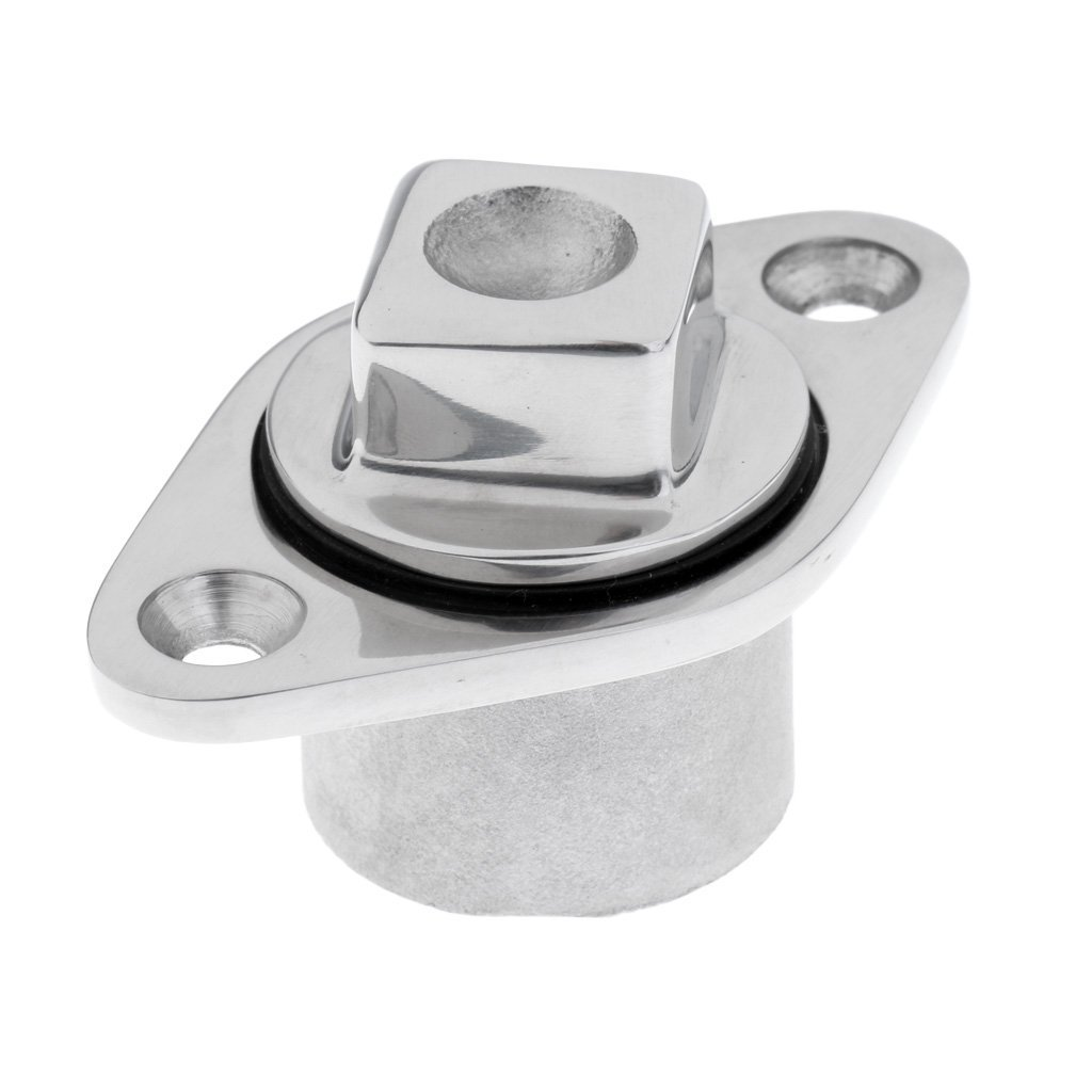 """Dovewill High Polished Stainless Steel Marine Boat Transom Garboard Drain Plug Bung for 7/8"""" Hole"""