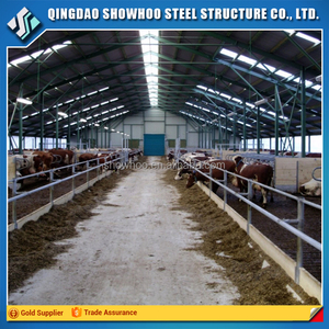 Prefabricated Steel Structure Fast Build Cow Farm House