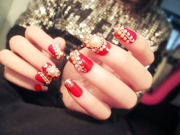 Linked Fashion Custom Fake Nails Stiletto Made In China