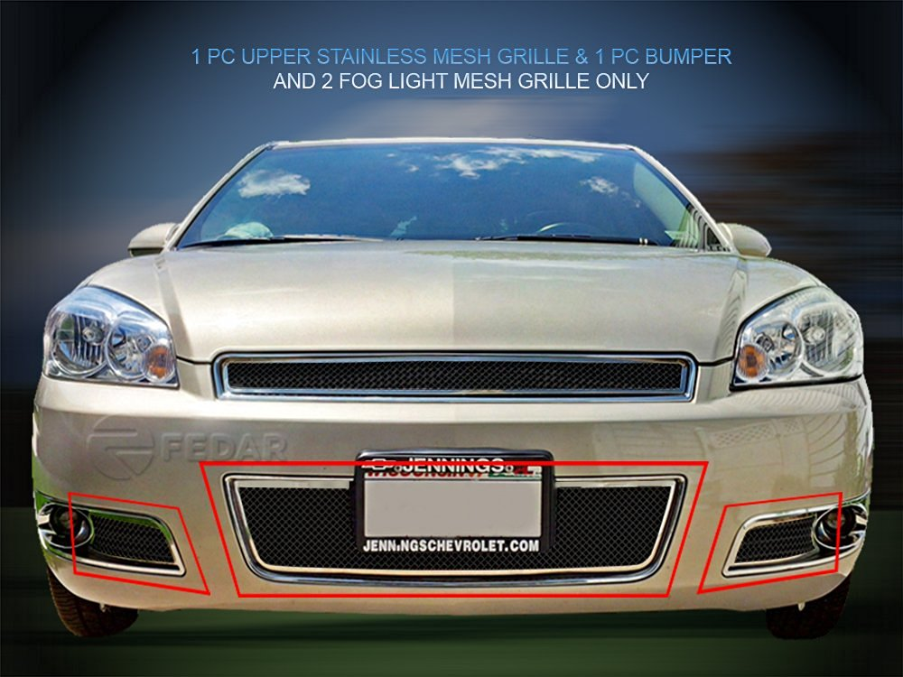 Fedar Lower Bumper Wire Mesh Grille for 2006-2013 Chevy Impala