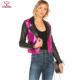 New Design Women Spell Color PU Leather Motorcycle Jacket