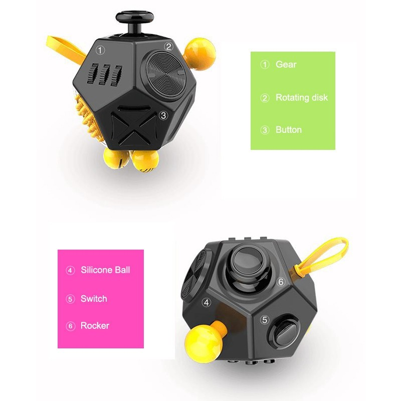 Anti Stress Cube,Magic Cube Decompression Fidget Toy,Release ...