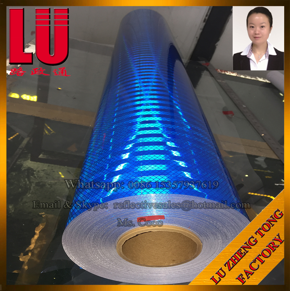 PET PC Acrylic Hot Sales For Truck Blue Micoprism Reflective Tape