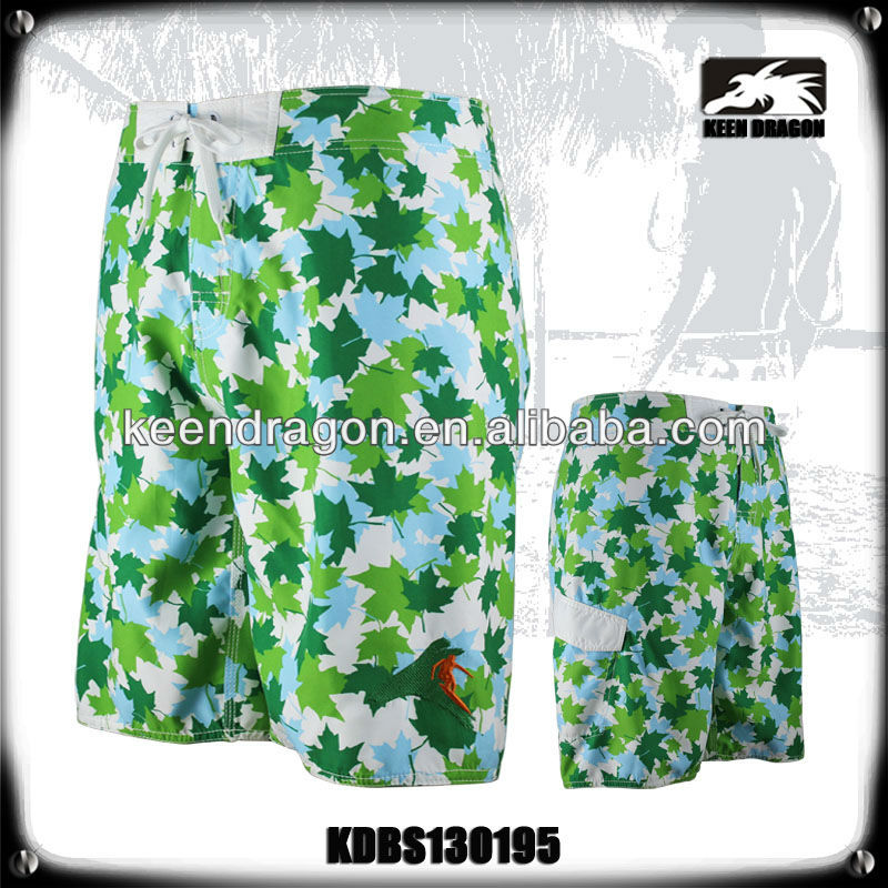 Men's new short 100% polyester printed customized tailored shorts