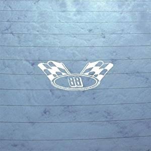 DECOR NOTEBOOK WALL ART DECORATION ADHESIVE VINYL WALL ART DECAL STICKER WINDOW AUTO DIE CUT NASCAR # 88 CHECKERD FLAG WHITE HELMET BIKE VINYL LAPTOP CAR CAR