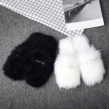 4c3071cba61 New Luxury Lady China Soft Real sheep Fur Slippers Metal chain Sheepskin  slipper High quality Wool