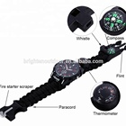 Multifunctional Survival Paracord Bracelet Compass Watch With Hiking For Outdoor Hiking