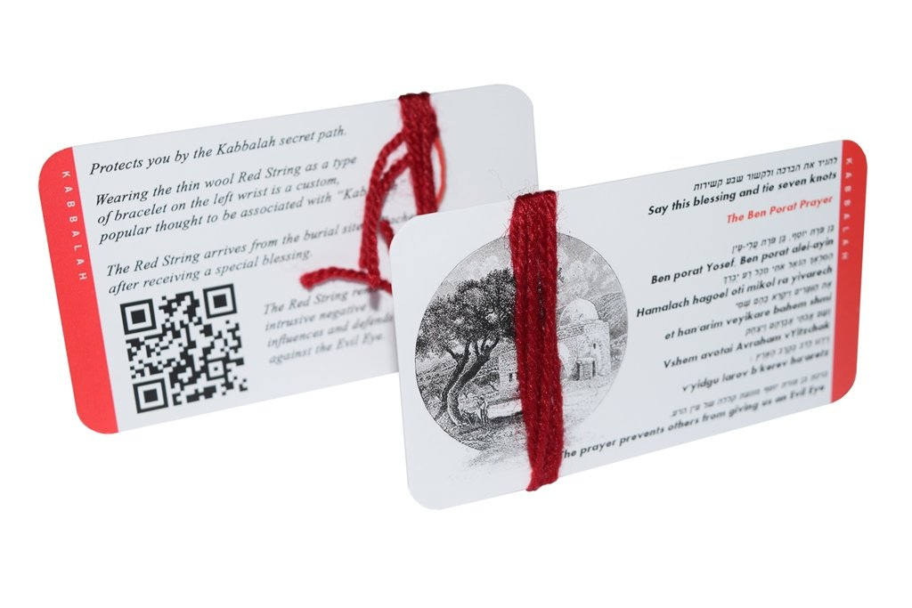 Buy Kabbalah Authentic Wool Red String Pack Blessed Rachel Tomb +