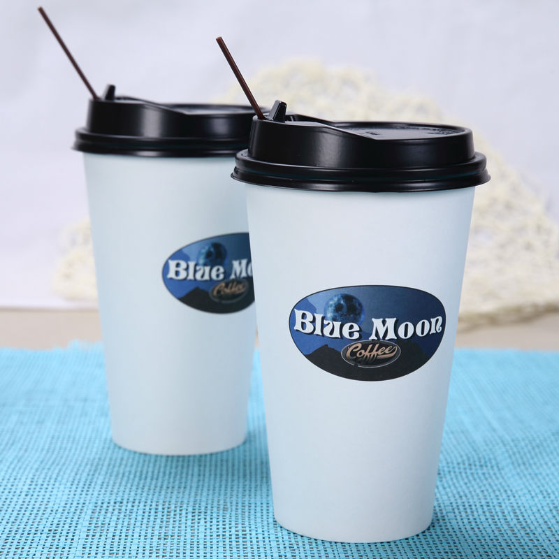 Food Grade Paper Cup with Lids and Straw/Paper Soup Cups with Paper Lids/Nespresso Cup and Foil Lids