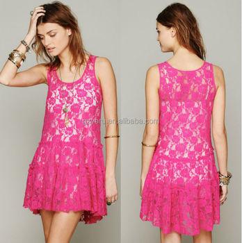 Fuschia Lace Dresses