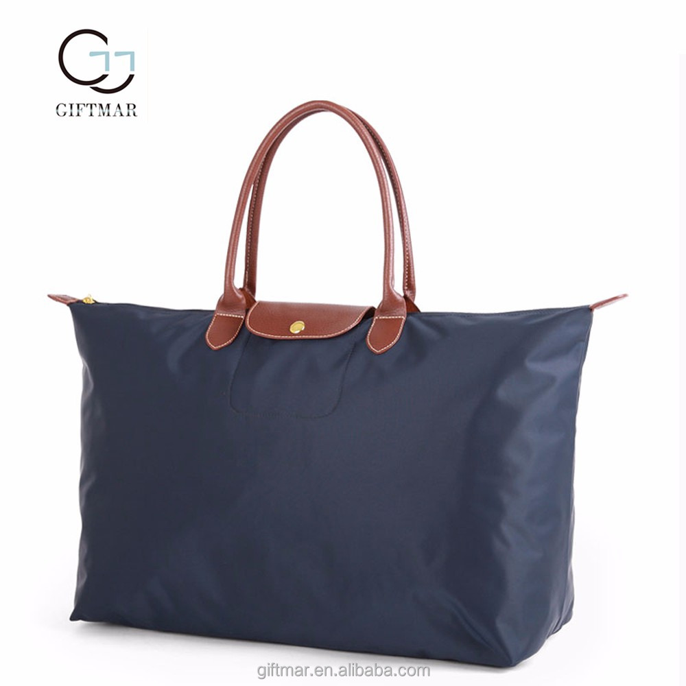Wholesale large cheap foldable travel tote lady handbags