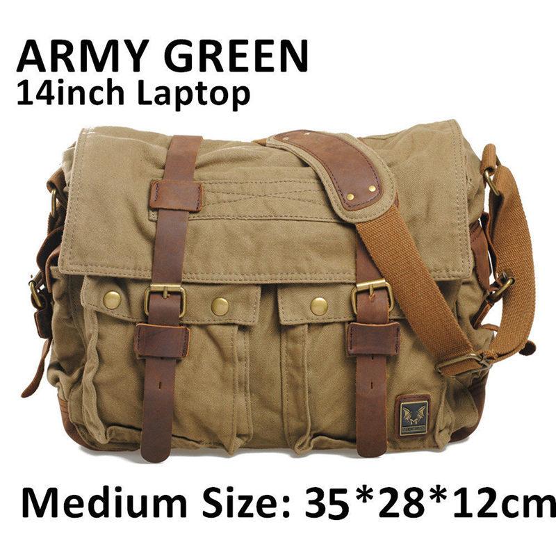 Я легенда уилл смит мужчины сумки посыльного военная винтаж холст и натуральная кожа сумки креста тела 14 или 17 '' ноутбук сумка сумки