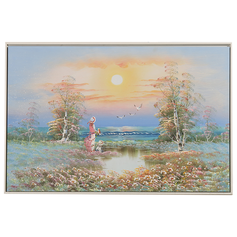 Factory Price Impression Sea Girls Landscape Oil Painting