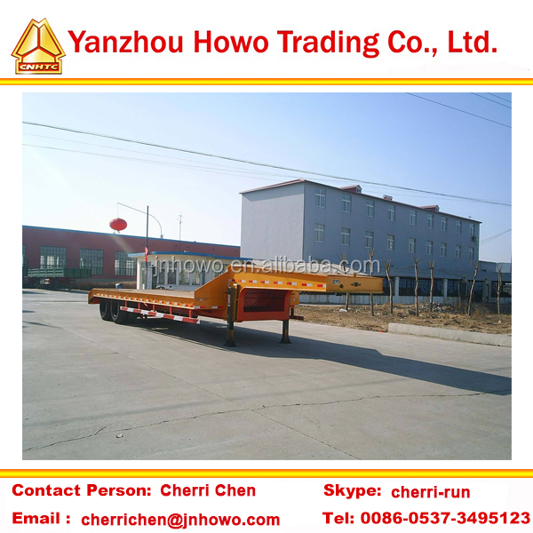 2 axle extendable lowbed semi trailer/gooseneck low bed semi trailer