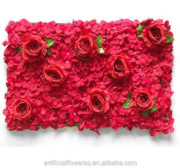 Grosshandel Hochzeit Blume Wand Mieten Kunstliche Blumen Wand