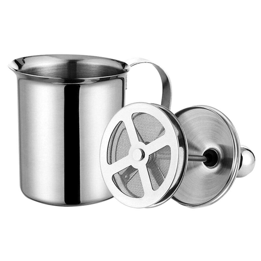 OUNONA Stainless Steel Milk Frother Double Mesh Milk Creamer (800CC)
