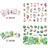Nail Sticker Water Transfer Sticker Cartoon Flamingo Cute Animal Designs Nail Art Slider Manicure Decoration